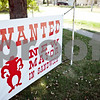 Rob Winner – rwinner@shawmedia.com<br /> <br /> A sign voicing opposition to Mayor Tom Thomas is seen outside a home near the corner of West Crofoot and Castle streets in Sandwich Friday, Aug. 3, 2012.