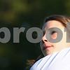 Kyle Bursaw – kbursaw@shawmedia.com<br /> <br /> Genoa-Kingston junior Andrea Strohmaier watches her drive at the Oak Club golf course in Genoa, Ill. on Friday, Aug. 10, 2012.