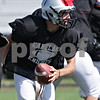 Rob Winner – rwinner@shawmedia.com<br /> <br /> Kaneland quarterback Drew David looks to hand off the ball during a scrimmage at practice in Maple Park, Ill., Saturday, Aug. 11, 2012.