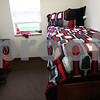 Kyle Bursaw – kbursaw@shawmedia.com<br /> <br /> One of the private bedrooms in the new residential hall at Northern Illinois University, decorated by staff to show what it might look like when someone is living in it.<br /> <br /> Monday, Aug. 13, 2012.