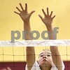 Kyle Bursaw – kbursaw@shawmedia.com<br /> <br /> Indian Creek senior Nicole Goodrich goes up for a block during practice at Shabbona Elementary on Monday, Aug. 13, 2012.