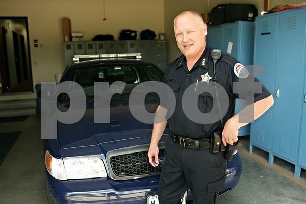 Rob Winner – rwinner@shawmedia.com<br /> <br /> Gregg Waitkus became the police chief in Hinckley Aug. 1 after retiring as a commander from the Naperville Police Department in July after 26 years.<br /> <br /> Hinckley, Ill.<br /> Tuesday, Aug. 14, 2012