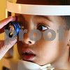 Kyle Bursaw – kbursaw@shawmedia.com<br /> <br /> Dr. Jeffrey Frank of Spex Expressions uses an instrument to check the retina of T.J. McNeal, of Kirkland, for various retinal diseases on Tuesday, Aug. 14, 2012. Five-year-old T.J. starts kindergarten at Immanuel Lutheran School in Belvidere, Ill. on Thursday.