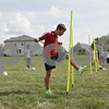 Rob Winner – rwinner@shawmedia.com<br /> <br /> Marek Mlodzianowski (front) heads a ball during a drill at practice in Kirkland, Ill., Tuesday, Aug. 14, 2012.