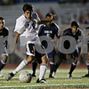 Rob Winner – rwinner@shawmedia.com<br /> <br /> DeKalb's Gerardo Dorantes scores on a penalty kick during the second half at Barb Cup in DeKalb Thursday, Aug. 23, 2012. DeKalb defeated Belvidere North, 3-0.
