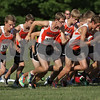 Rob Winner – rwinner@shawmedia.com<br /> <br /> The DeKalb boys cross country team begins the Sycamore Invitational at Afton Forest Preserve Tuesday.