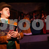 Kyle Bursaw – kbursaw@shawmedia.com<br /> <br /> Michael Steffan, the narrator of the Stage Coach Players Theater production of A Christmas Carol, introduces the opening scene during a dress rehearsal on Monday, Dec. 3, 2012.