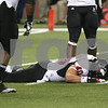 Kyle Bursaw – kbursaw@shawmedia.com<br /> <br /> Northern Illinois linebacker Victor Jacques (40) reacts after not being able to bring in an interception in the second overtime period. The Northern Illinois University Huskies defeated the Kent State Golden Flashes 44-37 in the MAC conference championship game at Ford Field in Detroit, Mich. on Friday, Nov. 30, 2012.