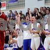 Kyle Bursaw – kbursaw@shawmedia.com<br /> <br /> The Hinckley-Big Rock bench erupts to a Royals score in the third quarter. Hinckley-Big Rock defeated Mooseheart 58-51 at Hinckley-Big Rock High School on Wednesday, Dec. 5, 2012.
