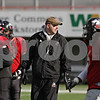 Rob Winner – rwinner@shawmedia.com<br /> <br /> Northern Illinois head coach Rod Carey watches over practice at Huskie Stadium in DeKalb, Ill., Saturday, Dec. 8, 2012.