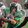 Rob Winner – rwinner@shawmedia.com<br /> <br /> Northern Illinois quarterback Matt Williams participates in a drill during practice at Huskie Stadium in DeKalb, Ill., Saturday, Dec. 8, 2012.