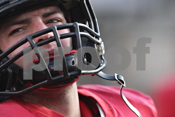 Rob Winner – rwinner@shawmedia.com<br /> <br /> Northern Illinois linebacker Michael Santacaterina during practice at Huskie Stadium in DeKalb, Ill., Saturday, Dec. 8, 2012.