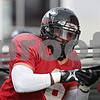 Rob Winner – rwinner@shawmedia.com<br /> <br /> Northern Illinois linebacker Jamaal Bass participates in a drill during practice at Huskie Stadium in DeKalb, Ill., Saturday, Dec. 8, 2012.
