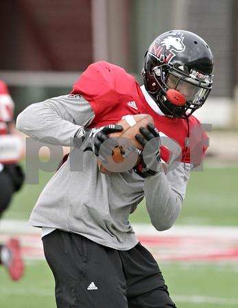 Rob Winner – rwinner@shawmedia.com<br /> <br /> Northern Illinois cornerback Demetrius Stone catches a pass during practice at Huskie Stadium in DeKalb, Ill., Saturday, Dec. 8, 2012.