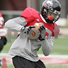 Rob Winner – rwinner@shawmedia.com<br /> <br /> Northern Illinois cornerback Demetrius Stone catches a pass during practice at Huskie Stadium in DeKalb, Ill., Saturday, Dec. 8, 2012.