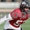 Rob Winner – rwinner@shawmedia.com<br /> <br /> Northern Illinois linebacker Michael Santacaterina participates in a drill during practice at Huskie Stadium in DeKalb, Ill., Saturday, Dec. 8, 2012.