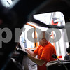 Kyle Bursaw – kbursaw@shawmedia.com<br /> <br /> Ted Jouris, a technician with the DeKalb streets department, works on cleaning out the cab in one of the department's vehicles while transitioning for the winter season on Tuesday, Dec. 11, 2012.