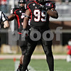 Rob Winner – rwinner@shawmedia.com<br /> <br /> Northern Illinois defensive tackle gets to the line before Kansas' offense leaves the huddle during a game in DeKalb, Ill., Saturday, Sept. 22, 2012.