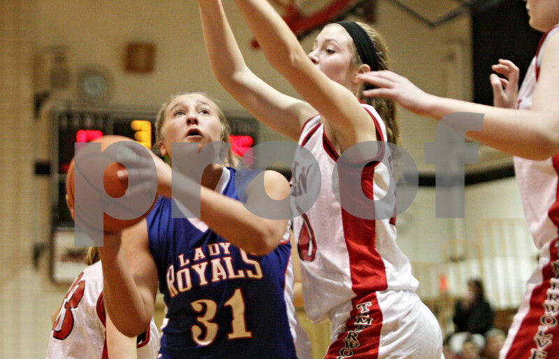 Rob Winner – rwinner@shawmedia.com<br /> <br /> Hinckley-Big Rock's Bridgette Edmeier (31) looks to shoot during the second quarter in Shabbona, Ill., Thursday, Dec. 13, 2012. H-BR defeated Indian Creek, 48-31.