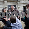 Kyle Bursaw – kbursaw@shawmedia.com<br /> <br /> Pat Quinn and Charles Ridulph, siblings of Maria Ridulph, take questions outside the DeKalb County Courthouse following the sentencing of Jack McCullough on Monday, Dec. 10, 2012