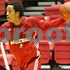 Rob Winner – rwinner@shawmedia.com<br /> <br /> Northern Illinois freshman point guard Daveon Balls moves the ball during practice at the Convocation Center in DeKalb, Ill., Thursday, Nov. 29, 2012.