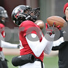 Rob Winner – rwinner@shawmedia.com<br /> <br /> Northern Illinois defensive back Jimmie Ward catches a ball during practice at Huskie Stadium in DeKalb, Ill., Saturday, Dec. 8, 2012.