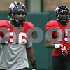 Kyle Bursaw – kbursaw@shawmedia.com<br /> <br /> Northern Illinois defensive back Jimmie Ward (15) waits for the snap while scrimmaging during practice at the DeKalb Recreation Center on Wednesday, Dec. 19, 2012.