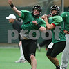 Kyle Bursaw – kbursaw@shawmedia.com<br /> <br /> Northern Illinois quarterback Jordan Lynch (6) fires a pass off at practice at the DeKalb Recreation Center on Wednesday, Dec. 19, 2012.