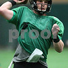 Kyle Bursaw – kbursaw@shawmedia.com<br /> <br /> Northern Illinois quarterback Jordan Lynch (6) fires a pass off at practice at the DeKalb Recreation Center on Wednesday, Dec. 19, 2012.