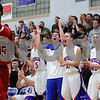 Kyle Bursaw – kbursaw@shawmedia.com<br /> <br /> The Hinckley-Big Rock bench erupts to a Royals score in the third quarter. Hinckley-Big Rock defeated Mooseheart 58-51 at Hinckley-Big Rock High School on Wednesday, Dec. 5, 2012.
