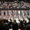Rob Winner – rwinner@shawmedia.com<br /> <br /> Northern Illinois University graduates begin entering the Convocation Center in DeKalb as commencement begins on Saturday afternoon.<br /> <br /> Saturday, Dec. 15, 2012