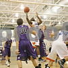 Rob Winner – rwinner@shawmedia.com<br /> <br /> Genoa-Kingston's Gabe Williams-Torres (33) puts up a shot in the second quarter at the Plano Christmas Classic on Saturday, Dec. 29, 2012. G-K defeated Wilmington, 63-58.