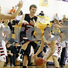 Rob Winner – rwinner@shawmedia.com<br /> <br /> Indian Creek's Tyler Reynolds (23) loses the ball on the way to the basket in the first quarter at the Plano Christmas Classic on Saturday, Dec. 29, 2012. Yorkville defeated IC, 69-65.