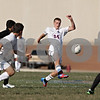 Rob Winner – rwinner@shawmedia.com<br /> <br /> Genoa-Kingston's Tommy Hansen (24) kicks a ball during the first half in Genoa Wednesday, Aug. 29, 2012. Hansen scored the first of the Cogs' two goals. G-K defeated Winnebago, 2-1.