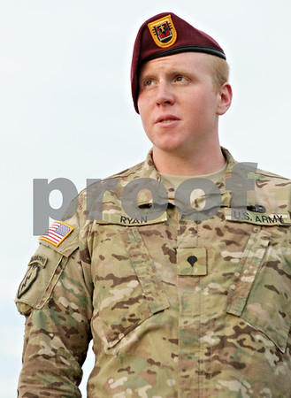Rob Winner – rwinner@shawmedia.com<br /> <br /> Army Spc. Tyler Ryan returned home last week after a tour in Afghanistan, where he'd been serving since Dec. 21.