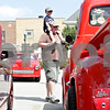 Rob Winner – rwinner@shawmedia.com<br /> <br /> Hampshire resident Joel Jackson and his son Tommy, 3, look at a 1955 Ford F100 during the Turning Back Time Weekend Cruise Night in Sycamore, Ill., Saturday, July 28, 2012.