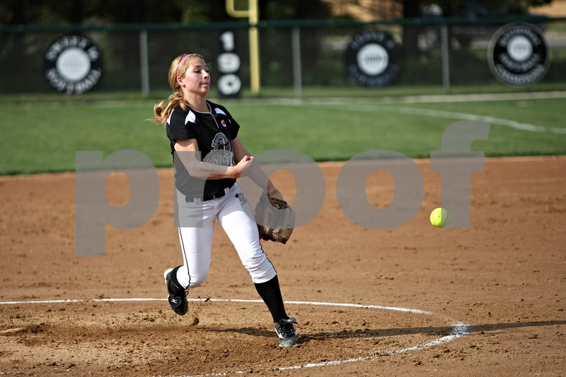 Rob Winner – rwinner@shawmedia.com<br /> <br /> Kaneland pitcher Delani Vest delivers a pitch during a game against DeKalb Wednesday, May 2, 2012, in Maple Park, Ill.