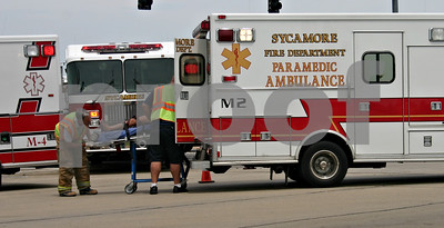 Jeff Engelhardt – jengelhardt@shawmedia.com  DeKALB – Four people, including two children, were taken to Kishwaukee Family Hospital Friday after sustaining injuries in a two vehicle crash at the intersection of Barber Greene and Peace roads.  A white Ford sedan headed north on Peace Road collided with a white Chrysler sedan turning left off Barber Greene Road to head south on Peace Road at approximately 1:49 p.m. Friday, said DeKalb County Sgt. Ryan Braden.   Braden said the severity of the injuries are unknown and an investigation into the cause of the crash was ongoing. Sycamore and DeKalb fire departments offered assistance.