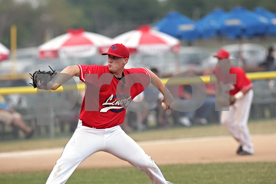Rob Winner – rwinner@shawmedia.com  DeKalb County Liners pitcher Brody Justice delivers a pitch in the top of the first inning during a game against the Chicago Zephyrs Saturday in Sycamore.