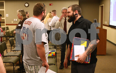 Kyle Bursaw – kbursaw@shawmedia.com  Matt Jordan cracks a smile after talking with one of his supporters following the DeKalb County Drug/DUI court graduation ceremony in a conference room in Kishwaukee Community Hospital on Friday, June 8, 2012.