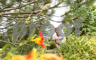 Kyle Bursaw – kbursaw@shawmedia.com  Kim Goike, of Alloyd, does some weeding in front of Heritage Woods in DeKalb, Ill. on Thursday, June 21, 2012 as part of the Kishwaukee United Way's annual Day of Caring.
