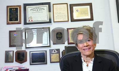 Kyle Bursaw – kbursaw@shawmedia.com  Micki Chulick, longtime executive director of 4-C, seen here in her office, is retiring.  Taken Friday, June 15, 2012.