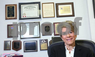 Kyle Bursaw – kbursaw@shawmedia.com  Micki Chulick, longtime executive director of 4-C, seen here in her office, is retiring.  Taken Friday, June 15, 2012.