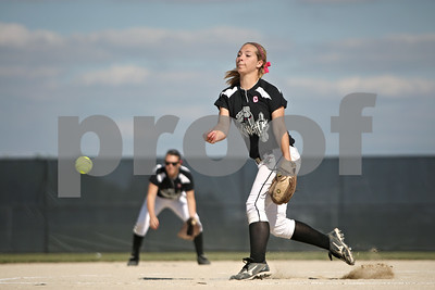 Rob Winner – rwinner@shawmedia.com  Kaneland pitcher Delani Vest delivers a pitch in the top of the first inning during a Class 3A Belvidere North Sectional semifinal Wednesday, May 30, 2012. Sterling defeated Kaneland, 9-1.