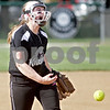 Monica Maschak - mmaschak@shawmedia.com<br /> Ellissa Eckert throws a pitch in a game against DeKalb on Thursday, May 16, 2013. The Knights shut out the Barbs 4-0.