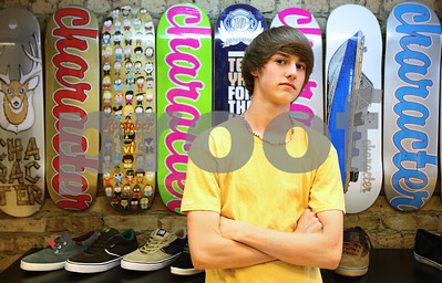 Kyle Bursaw – kbursaw@shawmedia.com  DeKalb skateboarder Addison Millhorn, 16, set the Guinness World Record for the most ollies in one minute at 50. Millhorn also rides for Smalltown Skate Shop, where he is pictured on Wednesday, May 2, 2012. Millhorn set the record on his first attempt and said he'll to push the record higher in the future.