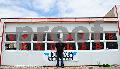 Genoa resident Lonnie Knotts opened his motorcycle repair shop, Late Nite Cycles, in Genoa in early March. He specializes in everything from regular maintenance to building custom motorycles.  By Nicole Weskerna - nweskerna@shawmedia.com