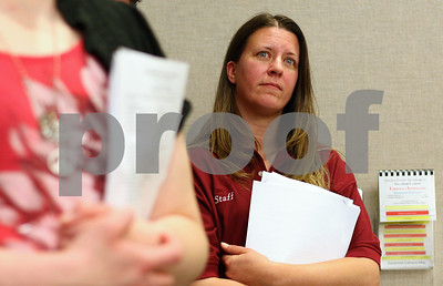 Kyle Bursaw – kbursaw@shawmedia.com  Tara King, a DeKalb County Drug/DUI court graduate and president of its C.L.E.A.N. Slate Alumni Program, watches the proceedings at a DeKalb County Board Report on the DeKalb County Drug/DUI Court in Sycamore, Ill. on Monday, May 21, 2012. Multiple graduates came out to the meeting to show their support.