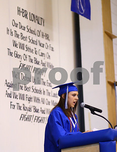Kyle Bursaw – kbursaw@shawmedia.com  Valedictorian Kaitlin Phillips gives some parting words to the Hinckley-Big Rock class of 2012 on Sunday, May 20, 2012.