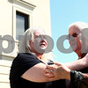 Kyle Bursaw – kbursaw@shawmedia.com<br /> <br /> Janet (left) and Jeanne Tessier embrace following the guilty verdict of their half-brother, Jack McCullough, for the 1957 disappearance and murder of Maria Ridulph outside the DeKalb County Courthouse in Sycamore, Ill. on Friday, Sept. 14, 2012.